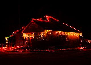 Trochu Christmas Lights and Market