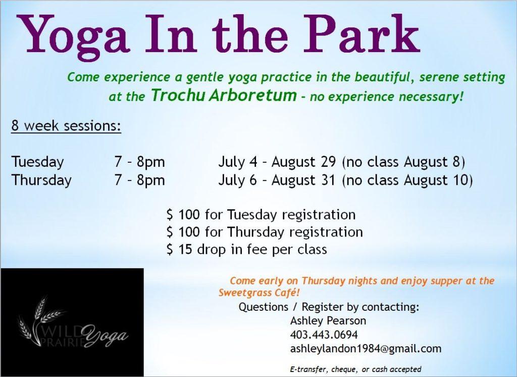 Yoga In The Park @ Trochu Arboretum | Trochu | Alberta | Canada