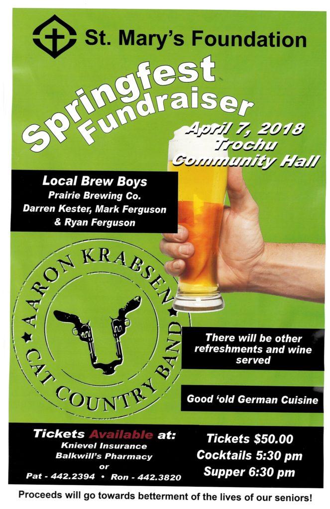 St. Mary's Springfest @ Trochu Community Hall | Trochu | Alberta | Canada