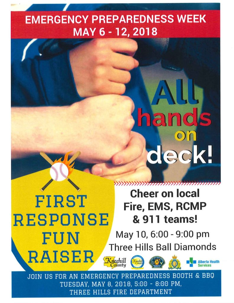 First Response FUN Raiser! @ Three Hills Ball Diamonds