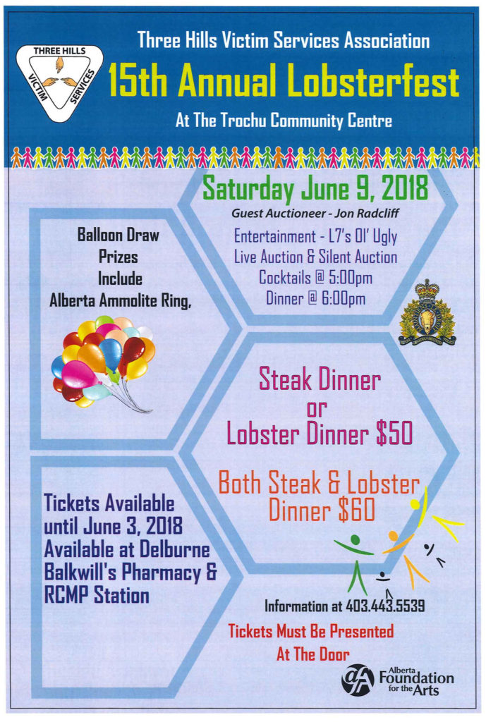 15th Annual Lobsterfest @ Trochu Community Centre