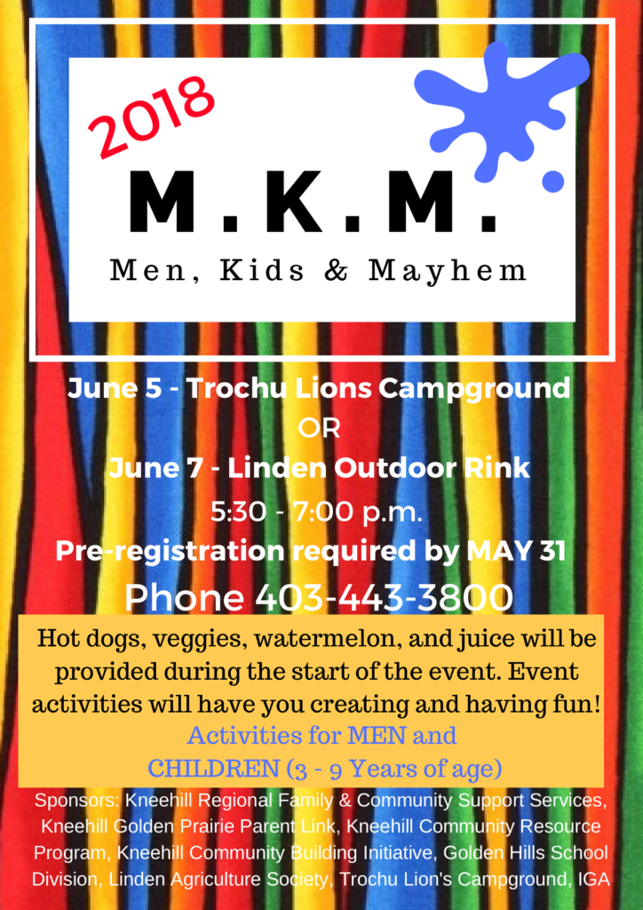 Men, Kids, & Mayhem (Trochu) @ Trochu Lions Campground