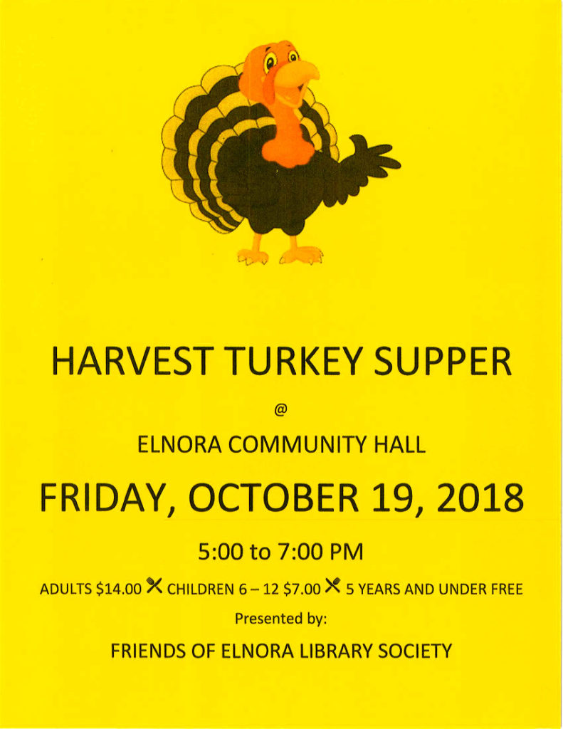 Harvest Turkey Supper @ Elnora Community Hall
