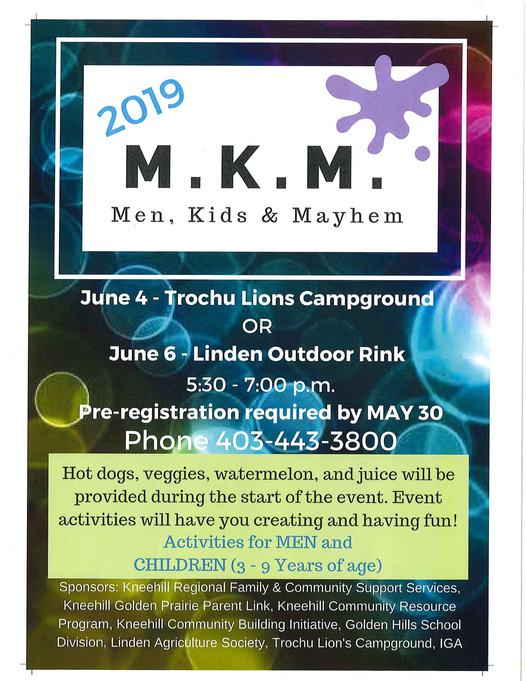 Men, Kids & Mayhem (Pre-Register by May 30th) @ Trochu Lions Campground