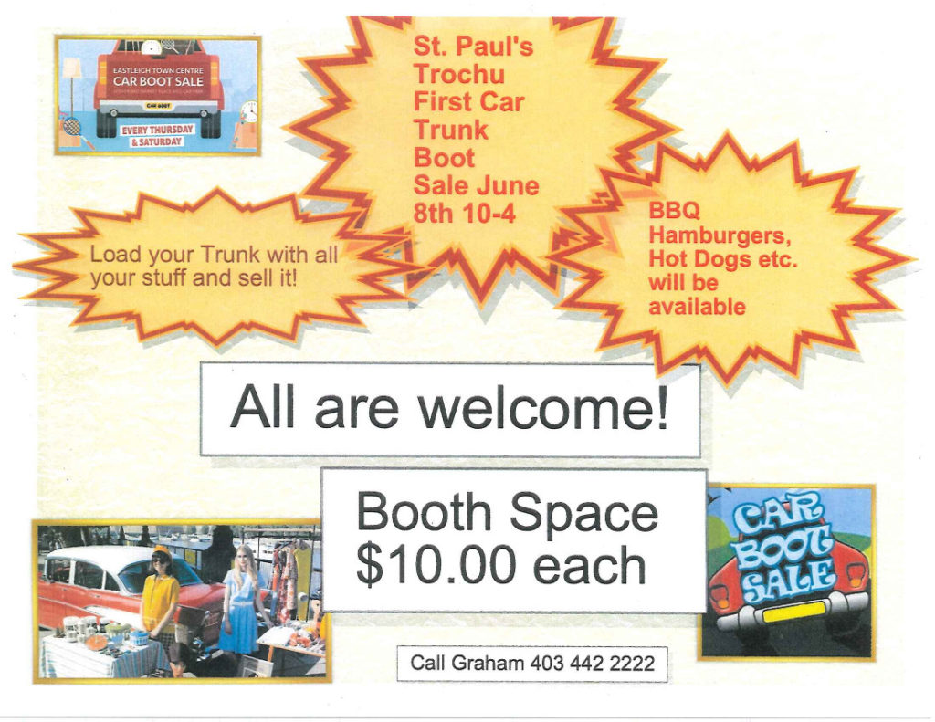 St. Paul's United Church - Car Trunk Boot Sale! @ St. Paul's United Church