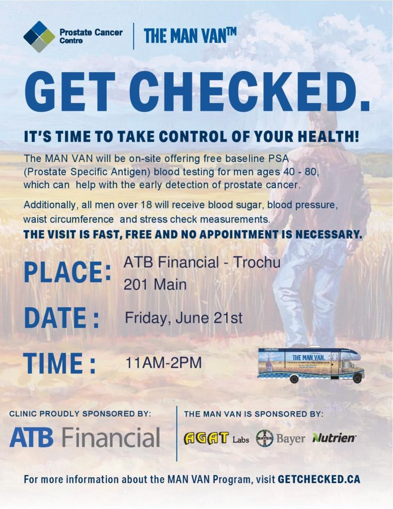 The Man Van @ Van will be parked at ATB Financial