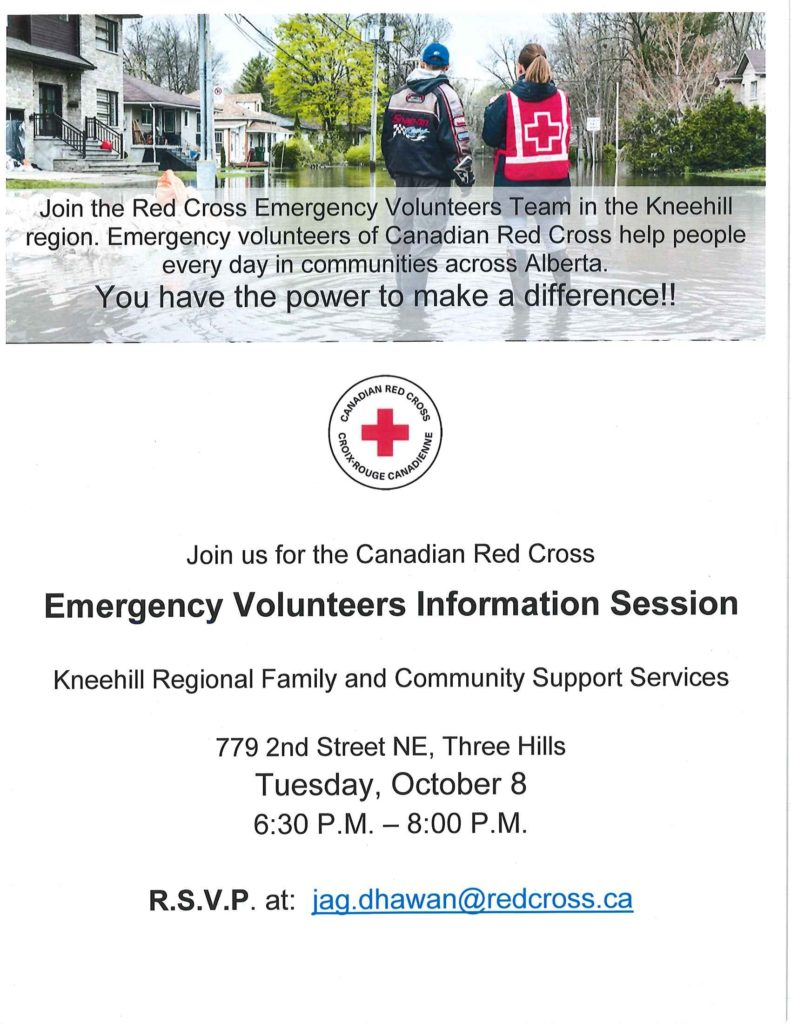 Red Cross Emergency Volunteer Information Session @ Kneehill Regional FCSS