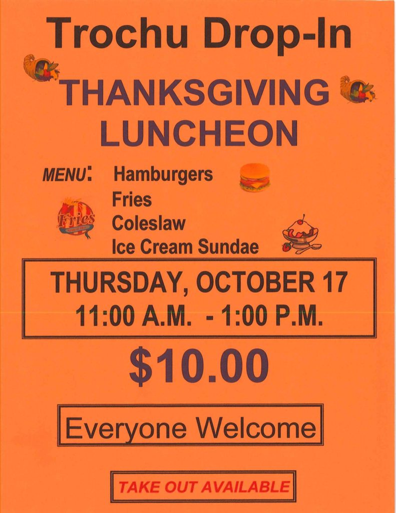 Drop In Thanksgiving Luncheon