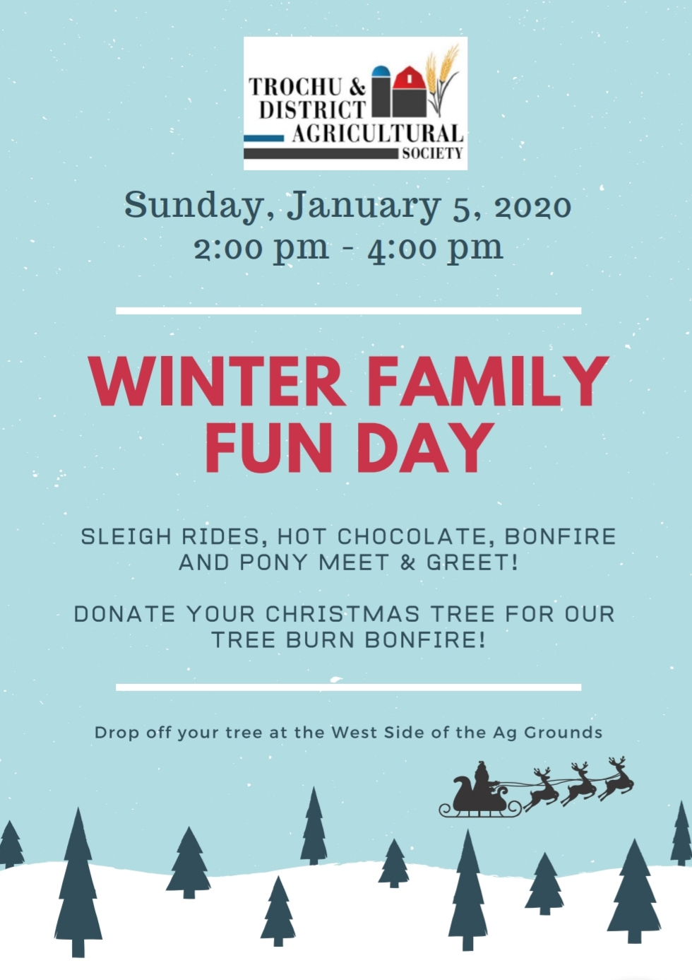 Winter Family Fun Day @ Trochu Ag Grounds