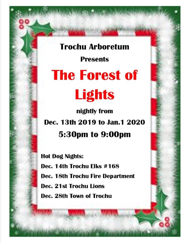 Forest of Lights @ Trochu Arboretum & Gardens