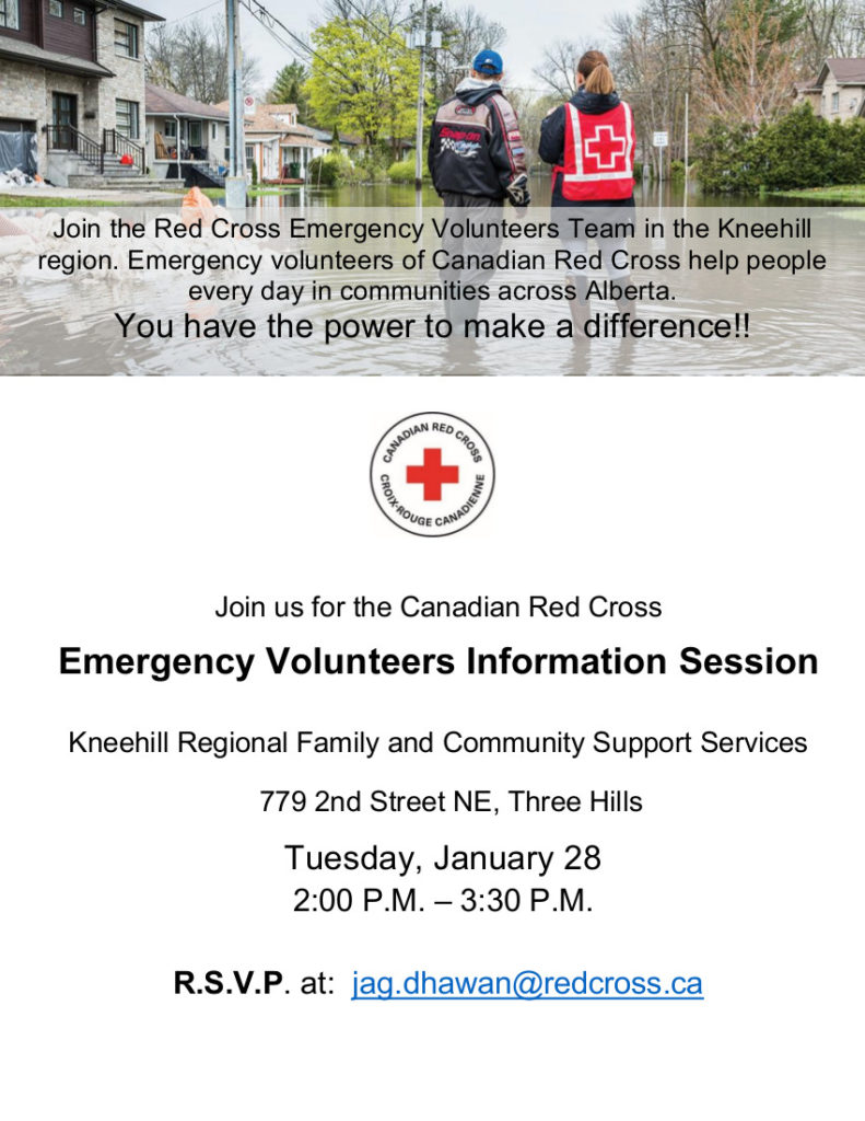 Red Cross Volunteer Information Session @ FCSS Office