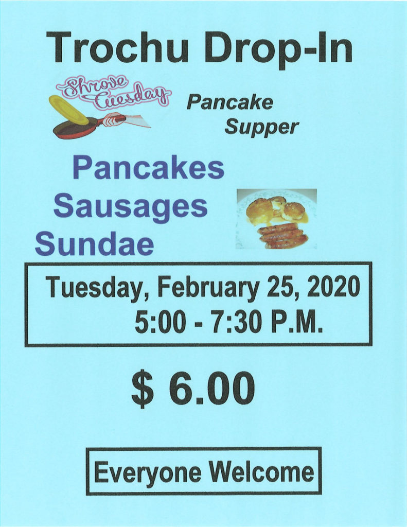 Pancake Supper @ Trochu Senior Drop-In Centre