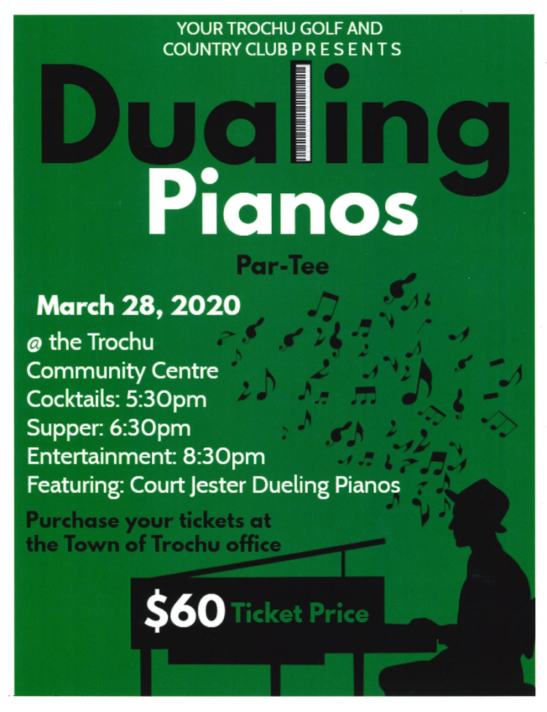 Dualing Pianos, Presented by Trochu Golf & Country Club @ Trochu & District Community Centre