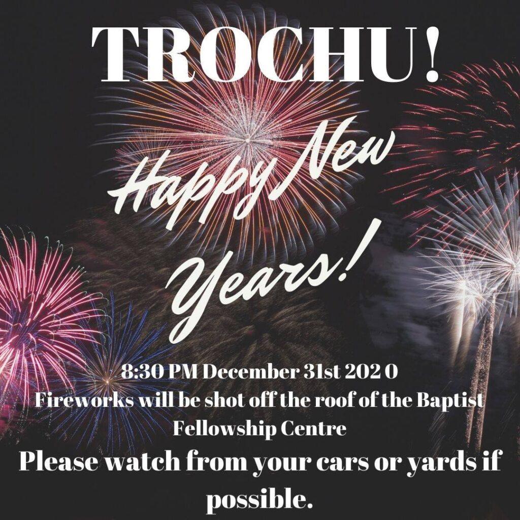 New Years Fireworks! @ Trochu Baptist Fellowship Centre